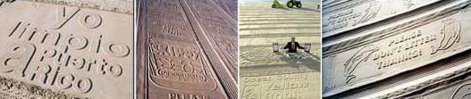 Реклама на песке