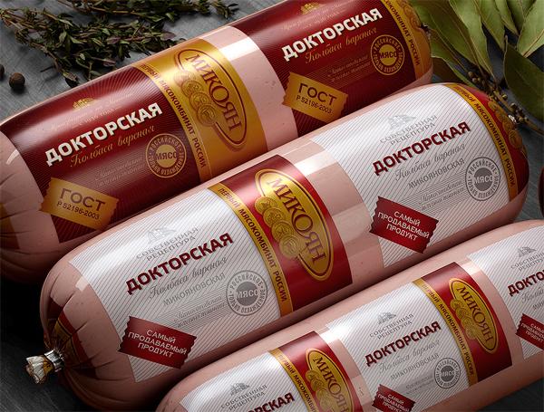 Новый дизайн упаковки колбас