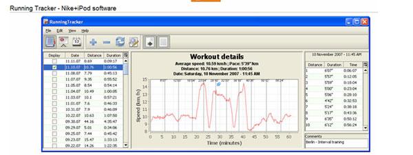 Программа Nike+GPS
