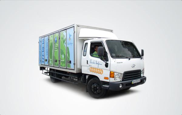 Брендированный грузовик