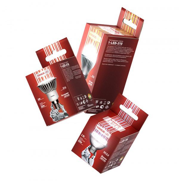 Светодиодные лампы Maxus обрели новый дизайн упаковки.