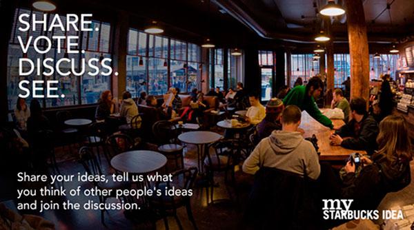 my starbucks idea brews customer feedback