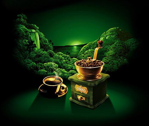 Дизайн упаковки нового кофе Grand Aroma de Brasilia