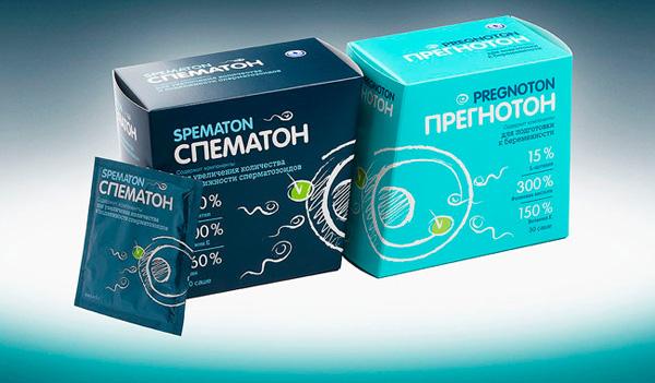 """BQB разработали дизайн упаковки препаратов """"Спематон"""" и """"Прегнотон"""""""