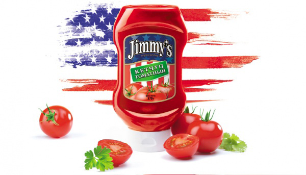 дизайн упаковки кетчупов «Jimmy-S»