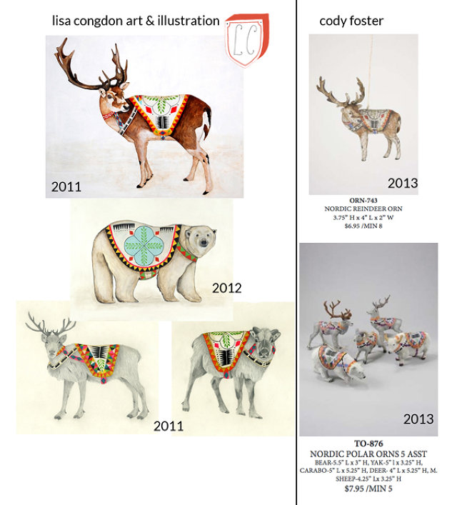 Понятная картинка: слева работа Конгдон, справа - вырезка из каталога Cody Foster