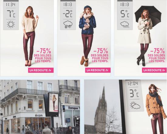 Умные билборды La Redoute