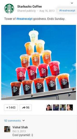 Позитивная пирамида от Starbucks получила много комментариев и