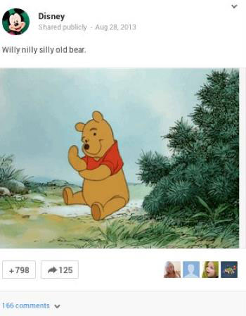 Анимированное изображение знаменитого медвежонка генерирует шеринги