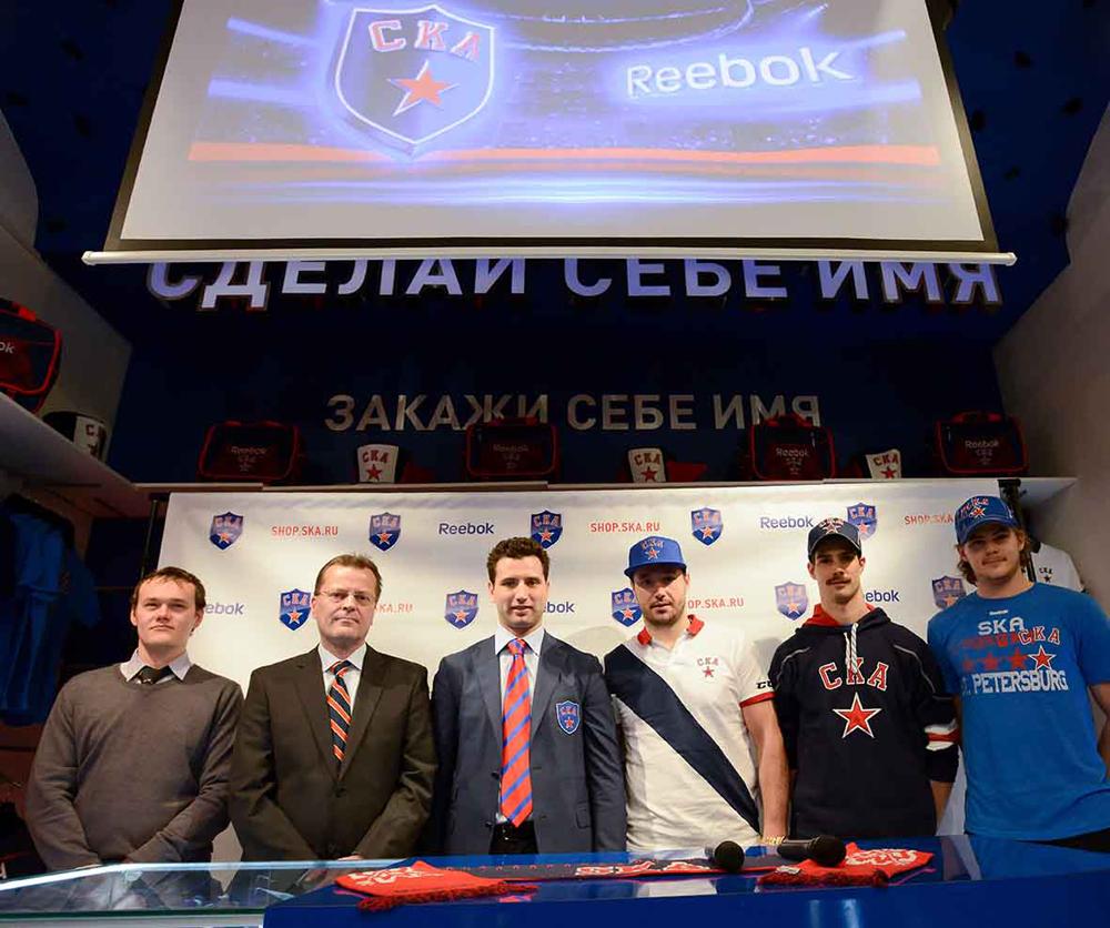 Reebok и хоккейный клуб СКА  подружились на Невском