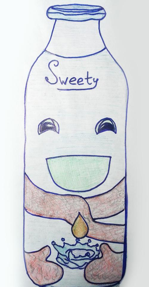"""2 место -  """"Sweety"""", молоко с добавлением капельки меда - Лилия, 12 лет"""
