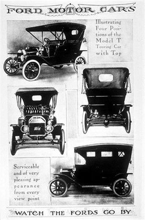 Самая первая реклама автомобиля Ford 1905 года