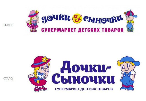 Редизайн сети детских супермаркетов «Дочки-Сыночки»