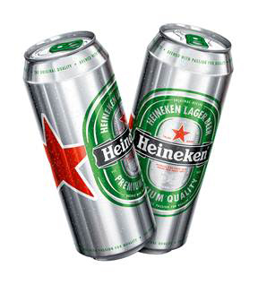 изменениt дизайна банки бренда Heineken