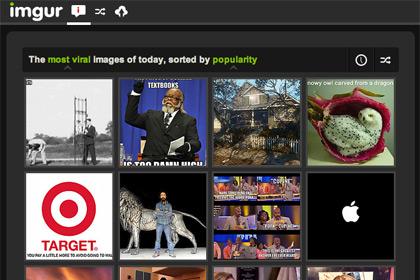 Скриншот сайта Imgur.com