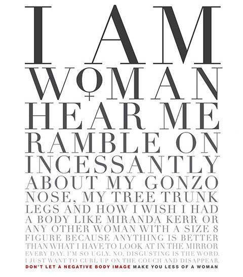Креативная реклама женского журнала