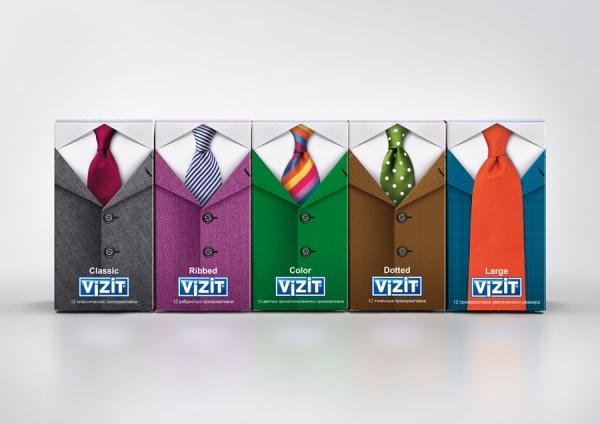 Дизайн упаковки для линейки презервативов «Vizit»
