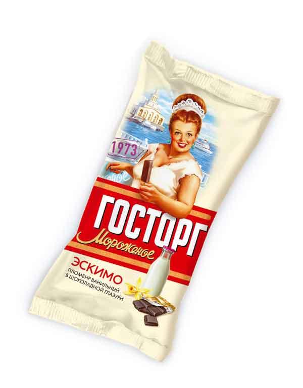Концепция и айдентика торговой марки мороженого ГОСТОРГ для компании