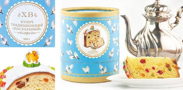 Дизайн упаковки пасхального кулича для БКК «Коломенский»