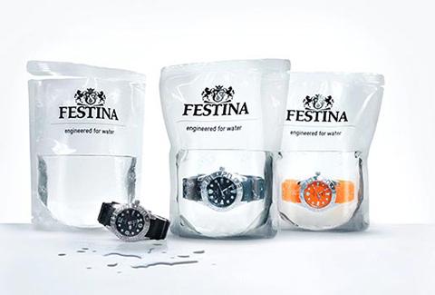 Упаковка для водонепроницаемых часов в виде пакета с водой