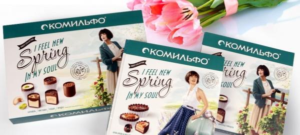 Дизайн упаковки конфет «Комильфо»