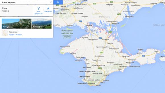Google в России обяжут указывать Крым как субъект РФ