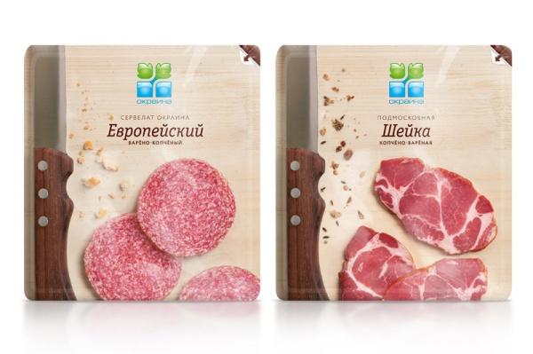 Упаковка колбасной нарезки от мясокомбината «Богородский»