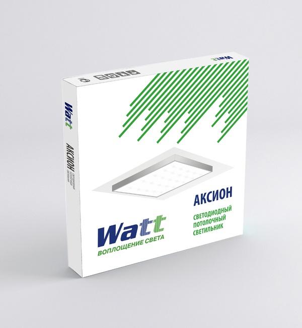 Логотип, знак и фирменный стиль торговой марки «Watt»