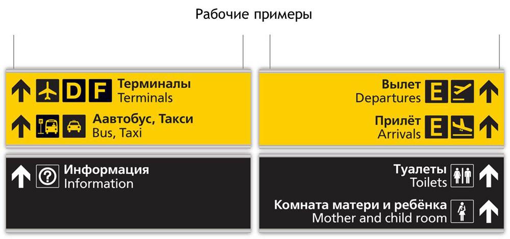 редизайн системы навигации для аэропорта Шереметьево