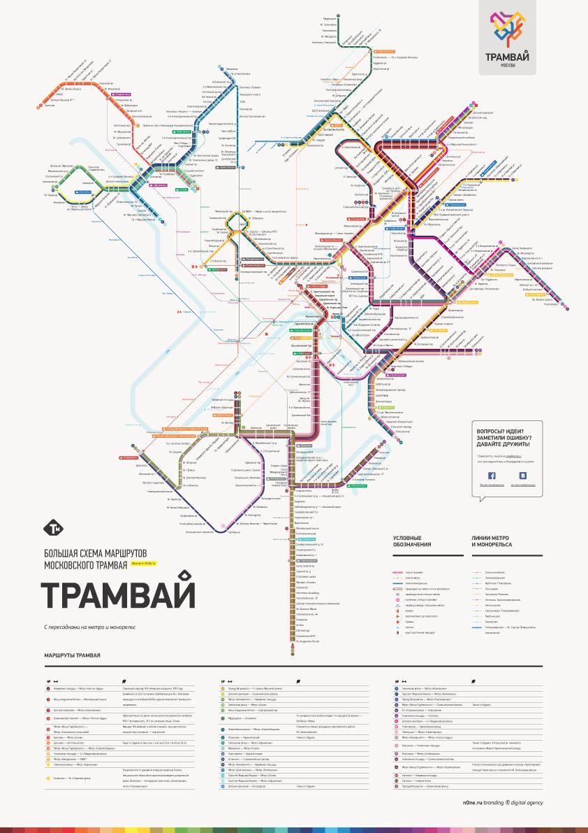 схема трамвайных маршрутов москвы