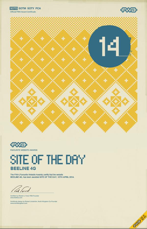 Сайт о 4G «Билайн» получил престижную награду за дизайн