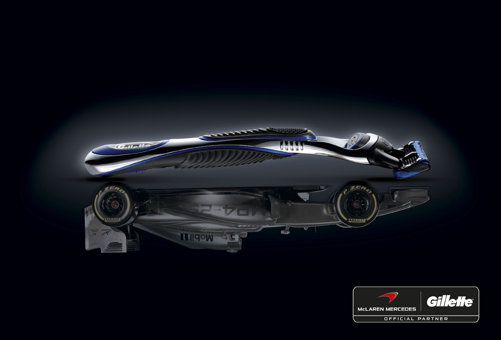 Gillette и Mclaren Mercedes  объявляют о партнерстве