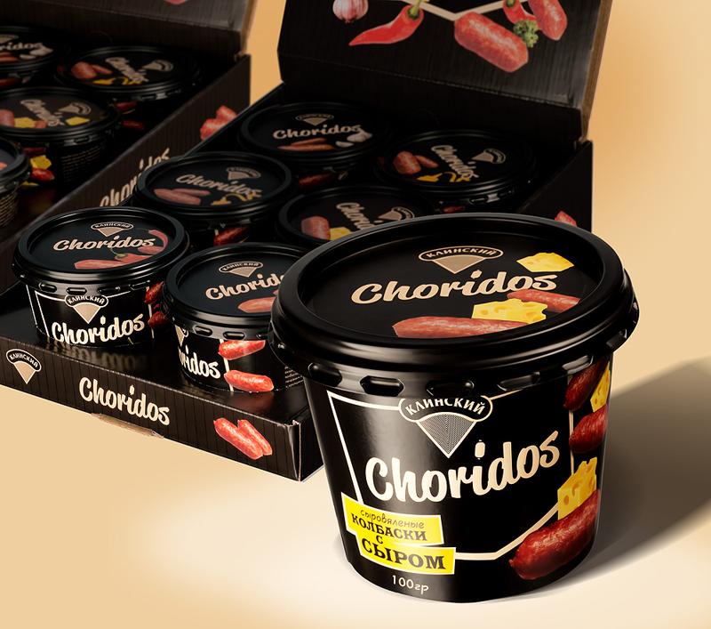 Сыровяленые снеки «Choridos» в упаковке дизайна BQB