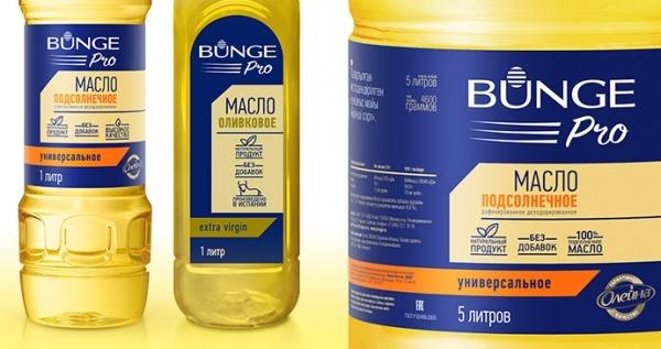 Дизайн упаковки для бренда «Bunge Pro»