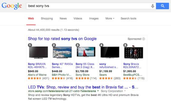 Google начал нумеровать и ранжировать результаты товарного поиска на основе отзывов и рейтингов