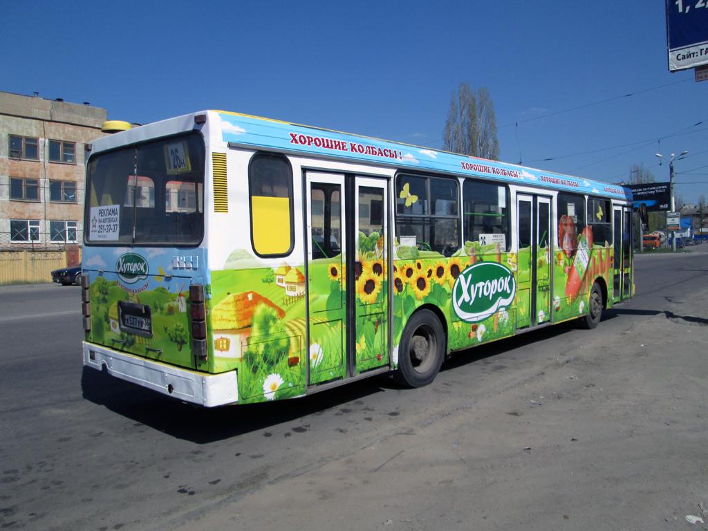 Колбаса на автобусах Воронежа