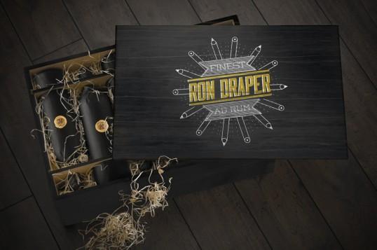 Оригинальный дизайн бутылки для рома Ron Draper