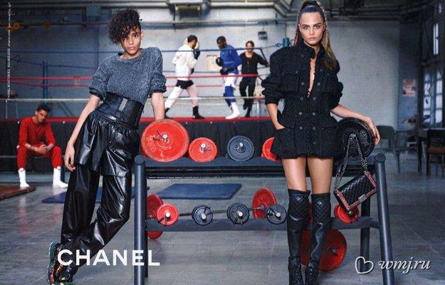 Малышка на миллион: Кара Делевинь в рекламной кампании Chanel, осень-зима 2014/2015