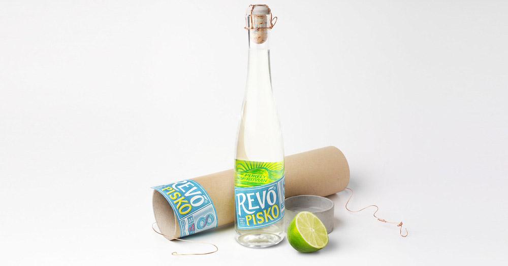 Бренд крепкого спиртного напитка Писко Revó