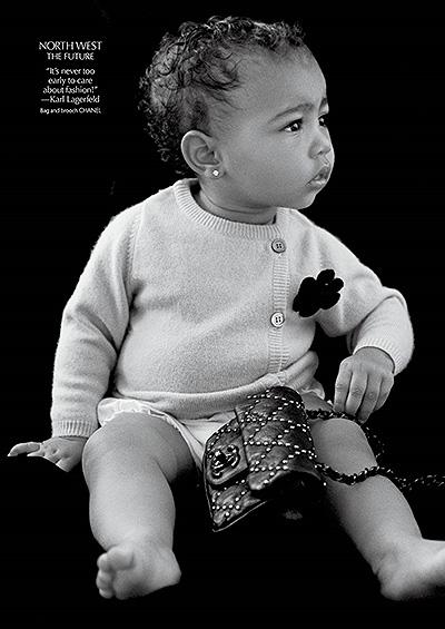 С младых ногтей: модельный дебют 13-месячной Норт Уэст