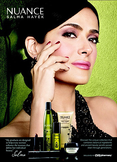 Сальма Хайек в рекламной кампании своей косметической линии