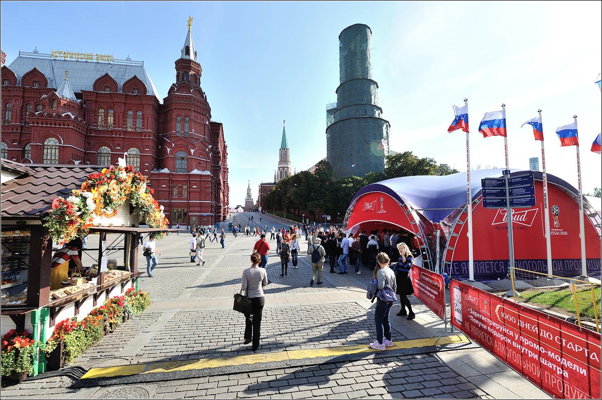 BUD Alcohol free и легендарные Clydesdales на запуске Часов Чемпионата Мира по футболу в России.