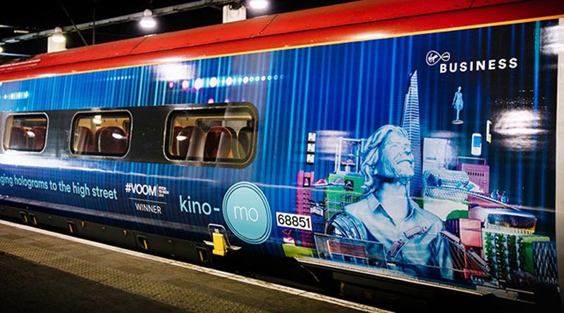 В Лондоне курсирует поезд с рекламой белорусского стартапа Kino-Mo.