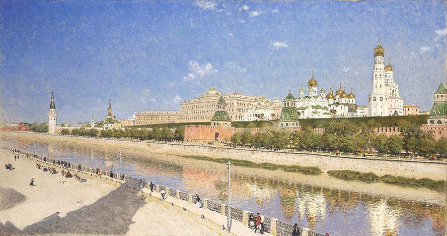 Верещагин Вид Московского Кремля с Софийской Набережной