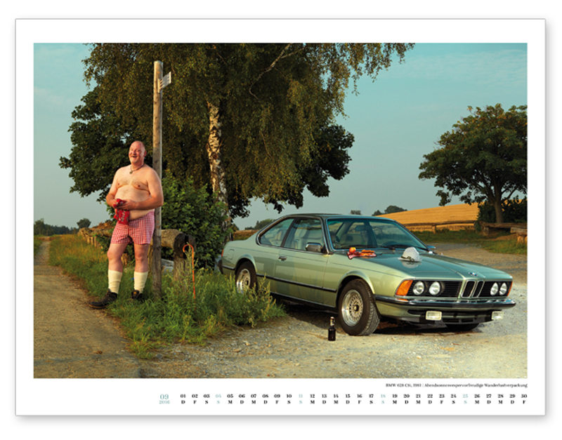 September, BMW 628 CSi, 1981.