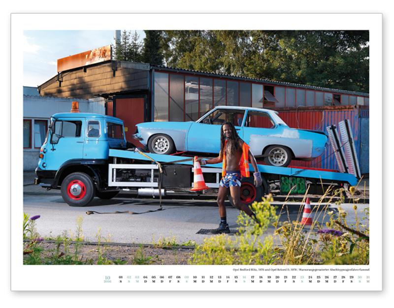 Oktober, Opel Bedford Blitz, 1976 und Opel Rekord.