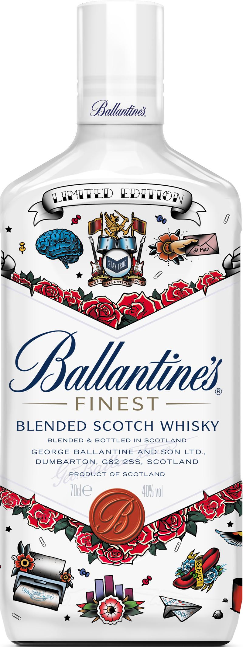 Ballantine's Tattoo Bottle копия 1 - Виски для скрытых рокеров