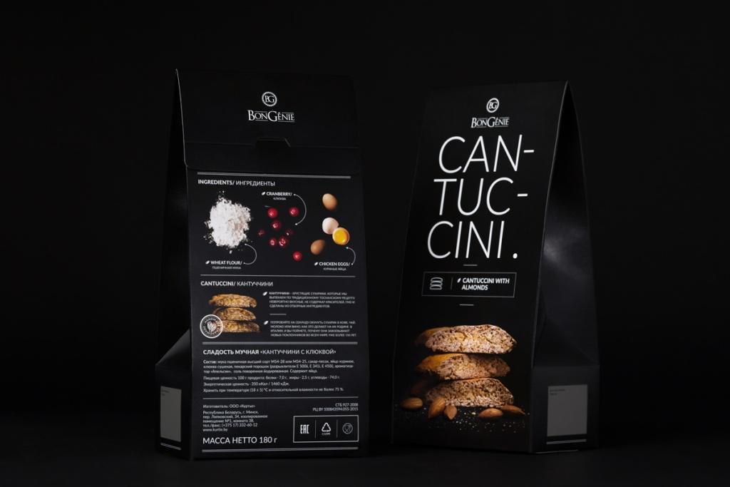 Дизайн упаковки тосканских сухариков Cantuccini.