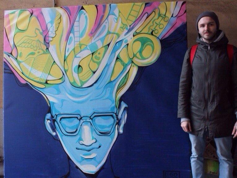 2-е место номинация Street art. Егор Голополосов «Изнутри».