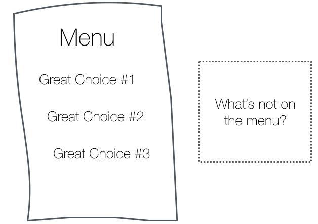 Если вы контролируете меню, вы контролируете выбор.